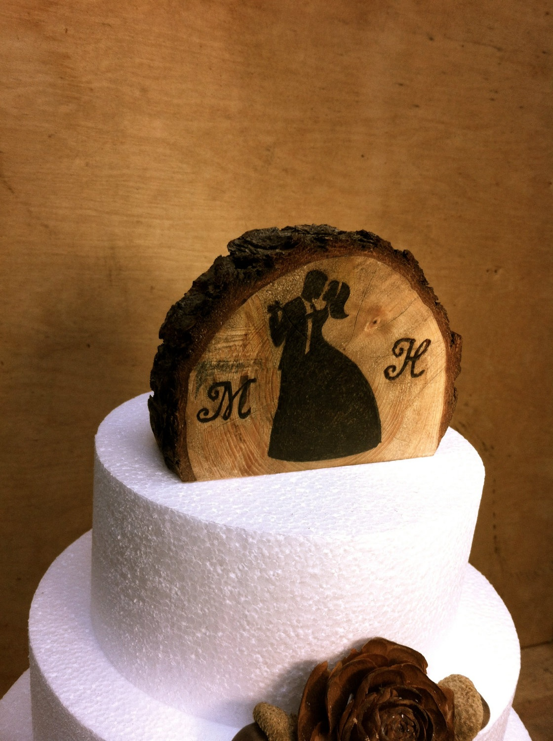 wooden rustic country wedding cake topper rustic wedding cake topper on luulla 27594